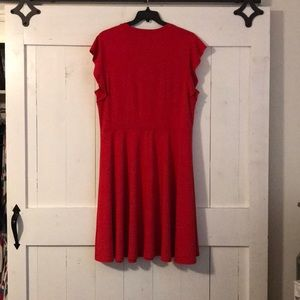 City Chic Dresses - City Chic sz 18w Red, Cap Sleeve, Mid Length Dress